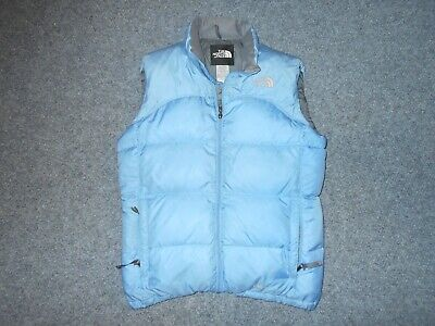 THE NORTH FACE VINTAGE YOUTH GIRLS XL 600 DOWN BABY BLUE PUFFER VEST
