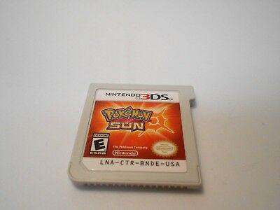 Pokemon Sun (Nintendo 3DS) game 2ds xl