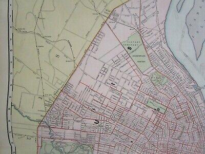 MO XL 1894 DATED ST SAINT LOUIS City Map 19th Century Or ST JOSEPH , KANSAS CITY - $35.00