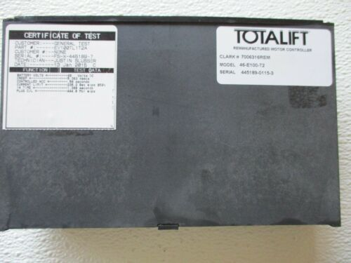 GENERAL ELECTRIC EV100 TRACTION CONTROL CARD -EV100TL1T2A