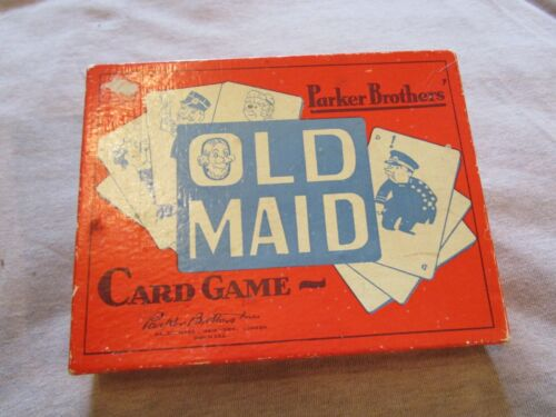 Antique Parker Brothers Old Maid Card Game Vintage