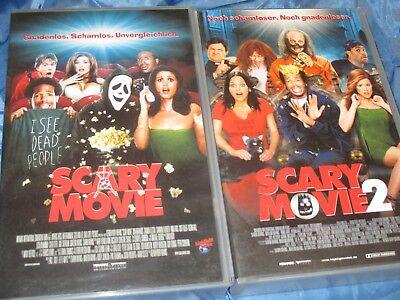 Kult Horror - Parodie Filme , SCARY MOVIE  1 + 2   ,  VHS / Video  Kassette