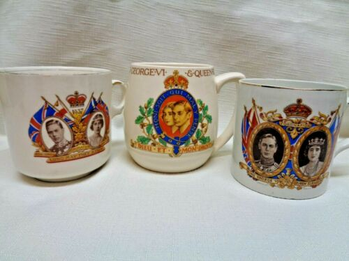3 CORATATION CUPS KING EDWARD