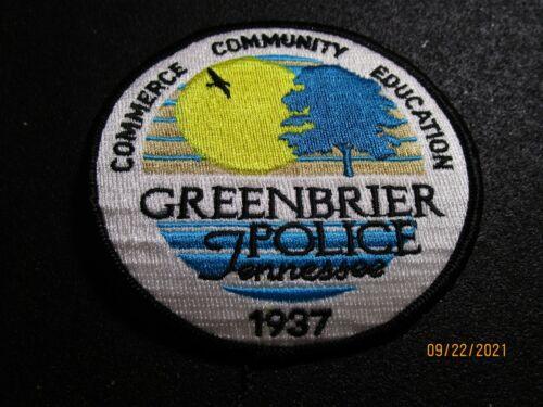 GREENBRIER TENN. POLICE DEPT PATCH