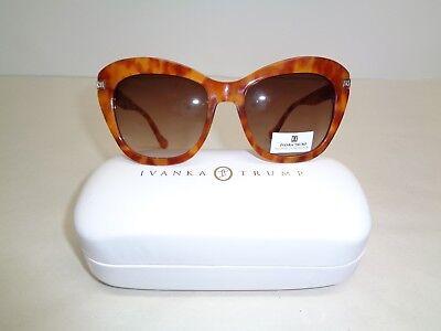 Ivanka Trump IT 503 Honey Tortoise UV Protection Sunglasses New Womens Eyewear