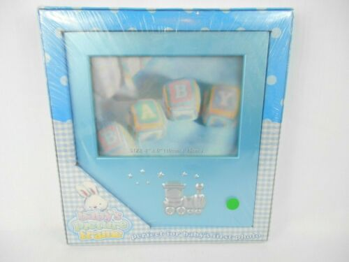 Bon Bebe Fits a 4x6 Photo Baby Shower Gift Picture Frame Blue