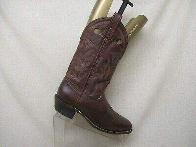 Double H Brown Leather Buckaroo Cowboy Western Boots Mens Size 9.5 D Style 1104