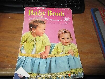 Knit and Crochet BABY Book Vintage 1952 - J P Coats - Book #502 Acceptable for sale  Shipping to India