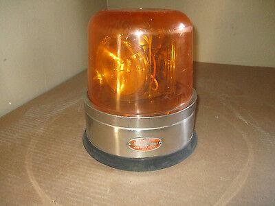 North American Signal Model 300 Amber Emergency Beacon Strobe Light 24v Used