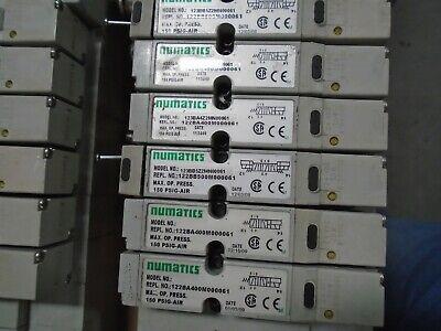Numatics Pneumatic Air Manifold Assembly 11x Solenoid Valves - Used Lot 397