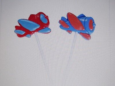 12 AIRPLANE SUCKERS lollipops candy pilots airplanes BIRTHDAY PARTY favors CUTE
