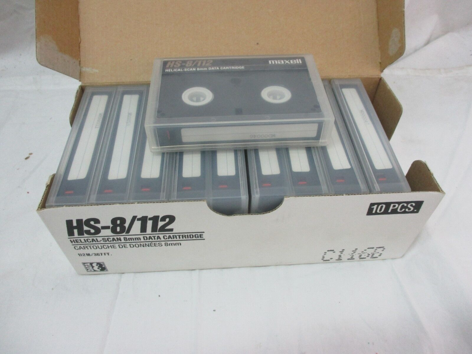 NEW Maxell HS-8/CL 8mm Data Cartridges - Box of 10, Item # 1