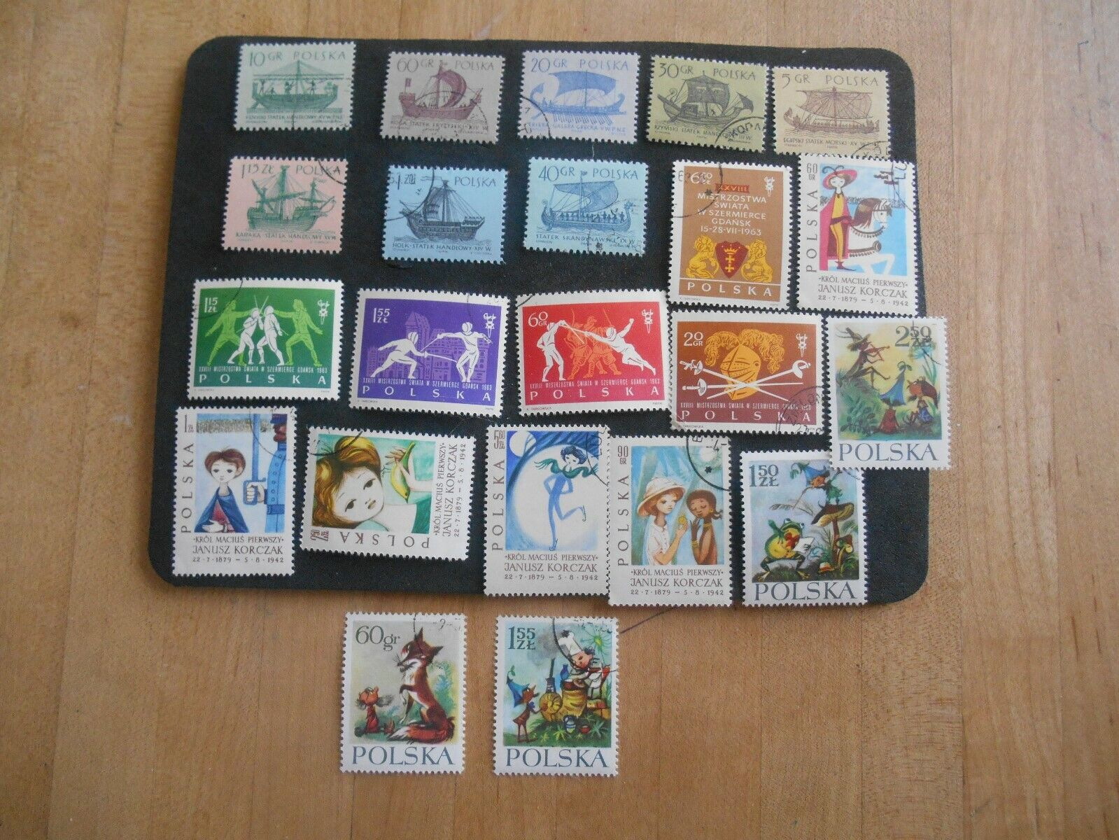 1964 Poland Sc 1206-1213, Ships Stamps, Canceled. - $2.50