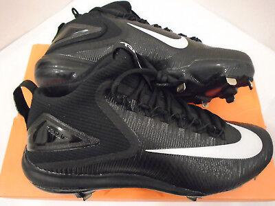 Mens Nike Zoom Trout 3 Baseball Cleats Black Mid Metal 0 Retail NWT