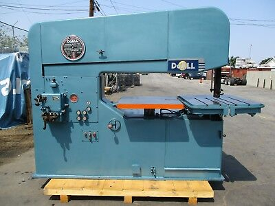 60 Doall Model 60-3 Vertical Band Saw 40 - 9000 Fpm Loaded With Options