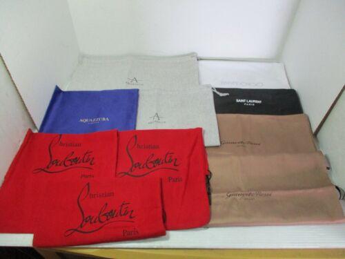 10 Shoe / Purse DUST BAGS - Jimmy Choo, Louboutin, Saint Laurent, Aquazurra, etc