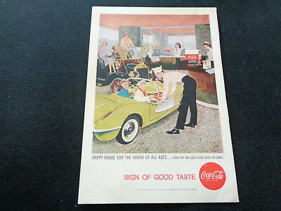 Antiquitäten Anzeigen (COCA COLA sehr frühe Original-Anzeige aus US-Magazin - schön und selten!)