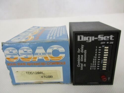 NEW SSAC TDS120AL TIME DELAY RELAY 120V