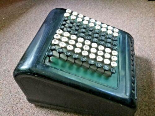 Rare Tall  BURROUGHS Comptometer Adding Machine Early Calculator Good Cond 1930s