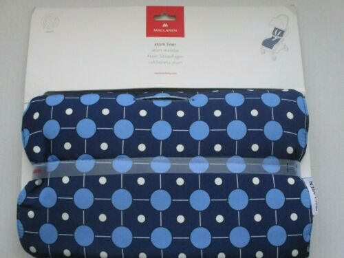NEW MACLAREN ATOM GALAXY MEDIEVAL BLUE SEAT LINER FOR A STROLLER (PAD ONLY)