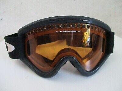 Oakley orange gold black translucent basic small strap snow ski goggles