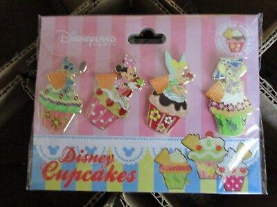 Disney DLRP Cupcakes -4 Pin Booster Set - Stitch Minnie Tinker Bell & Angel Pins (Disney Cupcakes)