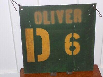 Vintage Oliver D 6 Tractor Metal (Vintage Oliver Sign)