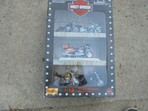 Vintage Maisto Harley Davidson Collection 1:18 Scale 5 Motorcycles
