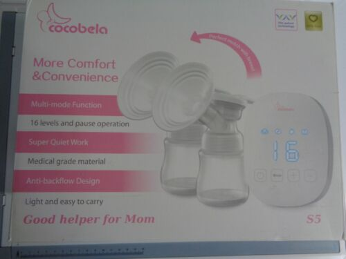Portable Baby Double Breast Feeding Pump Quiet Lithium Battery Touch Screen