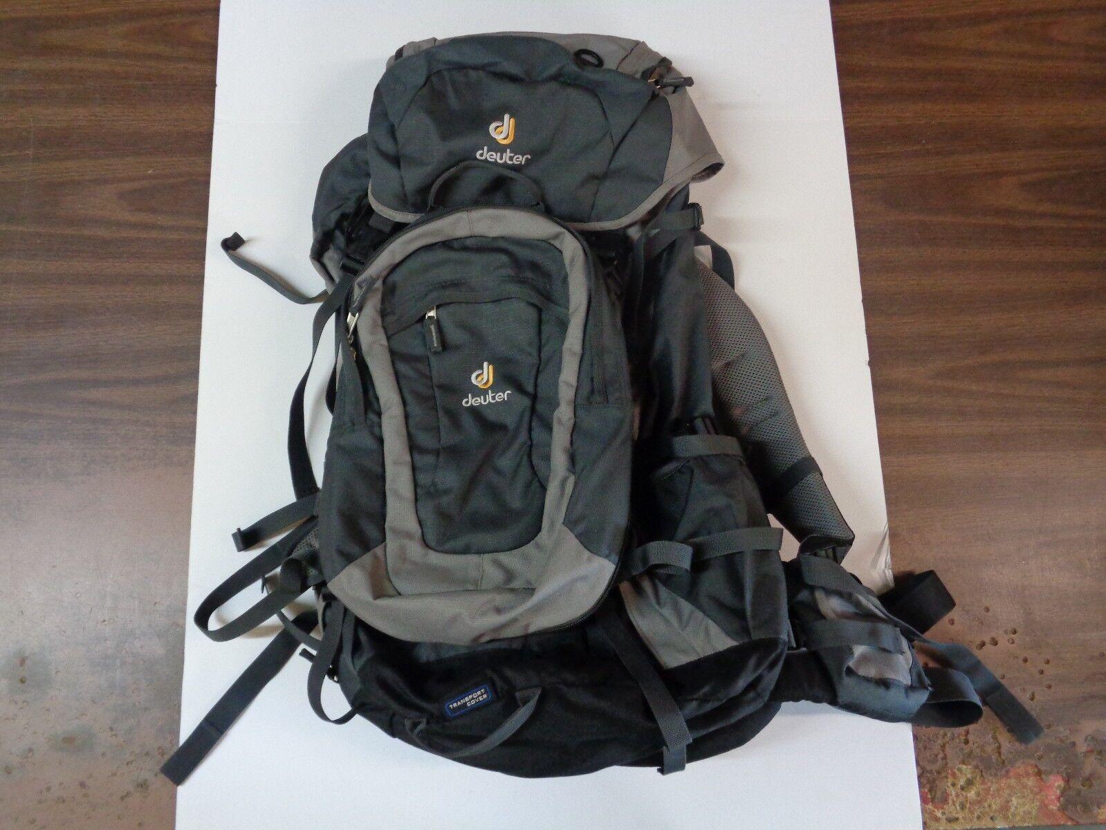 NEW Deuter Quantum 55+10 Hiking Travel Backpack Anthracite - Flint w/ Daypack