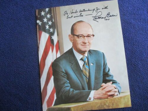 1974 LaMar Baker (Tennessee Political Representative) Signed COLOR Photograph