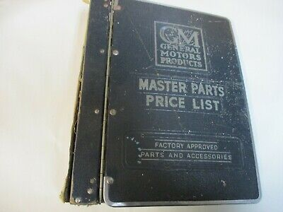 Vintage Gm Expandable 3 Ring Format Empty Binder Master Parts Price List Used