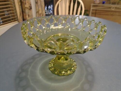 Westmoreland Green Doric Pedestal Bowl VINTAGE