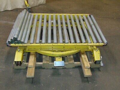 Mobile Gravity Conveyor Roller Section With 360 Degree Spin Swivel Roll Around