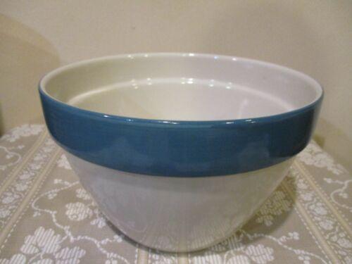 Vtg Nesting Ceramic Large Mixing Bowl, Over & Back, Stripe, Made in Portugal (1)