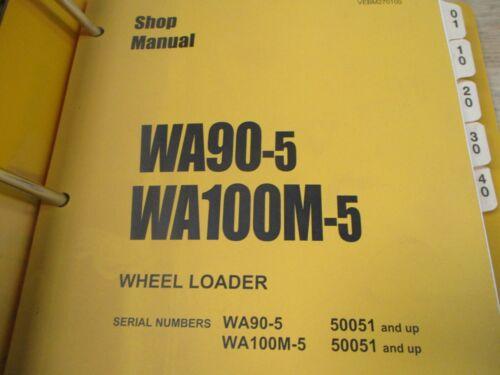 Komatsu WA90-5 WA100M-5 Wheel Loader Shop Service Manual