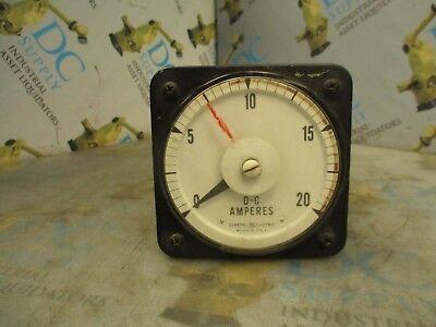 GENERAL ELECTRIC 50-2580413R01A DB40 01639 TC 0-20 AMP RANGE DC AMP GAUGE