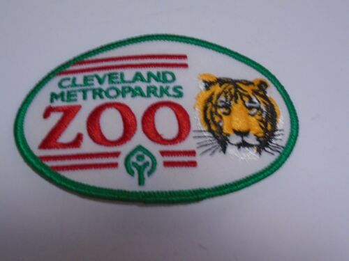 """VTG Cleveland Metroparks Zoo Ohio Tiger Head Souvenir Embroidered Patch Badge 4"""""""
