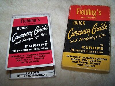 Vtg Fielding S Quick Currency Guide And Language Tips Converter Translator