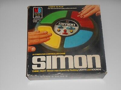 Vintage 1978 SIMON Says Milton Bradley MB Electronic Game Original Box Complete