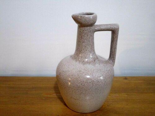 UHL Pottery Pitcher Grey with Brown Specks Vintage Original Art Pottery