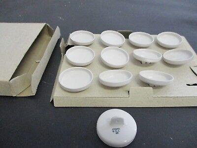 Vintage Coors U.s.a. Size 04 Porcelain Crucible Lids No.4 Lot Of 12