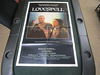 Vintage 1 sheet 27x41 Movie Poster Lovespell 1981 Richard Burton Kate Mulgrew
