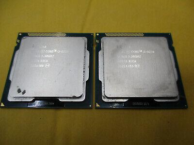 QTY-2 INTEL CORE I3-3220 SR0RG 3.30 GHZ PROCESSOR 3MB 5GT/S LGA1155 CPU  T2-B17
