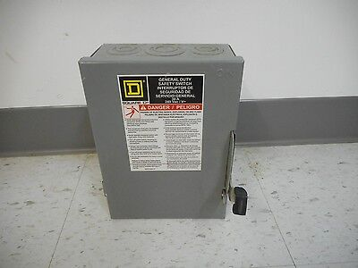 Square D D221n 30 Amp 240 Volt Single Phase Fusible Indoor Disconnect