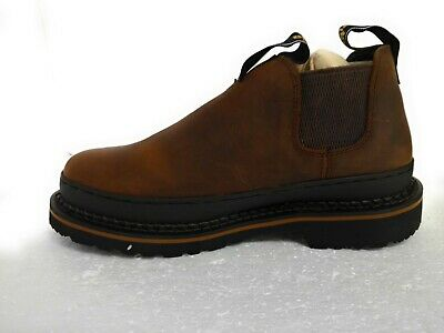 Georgia Giant Work Shoe Safety Shoes Leather Pull On Sz 9M GB00320 Georgia Mens Safety Shoes