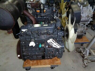 Kubota V1505 4 Cylinder Engine. Runs Excellent. Low Hours. 1867 Muffler Stays