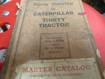 Caterpillar Thirty Tractor Parts Catalog Sn S4683 Ps1