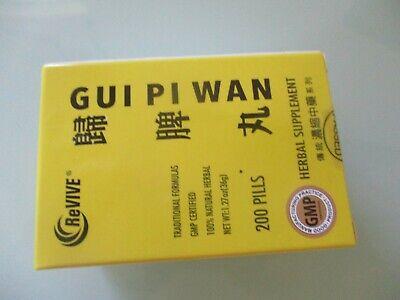 1 BOTTLE OF GUI PI WAN,RESTORE THE SPLEEN DECOCTION, SPLEENVIVE 200 PILLS Gui Pi Wan 200 Pills