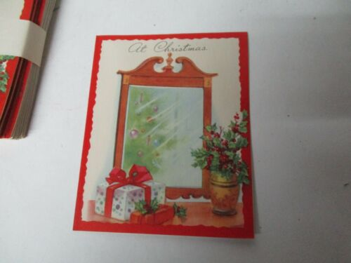 16 Vintage Unused Christmas Cards in Original Wrapper - At Christmas